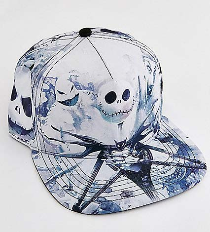 White Jack Skellington Snapback Hat - The Nightmare Before Christmas 0073a17a1b46