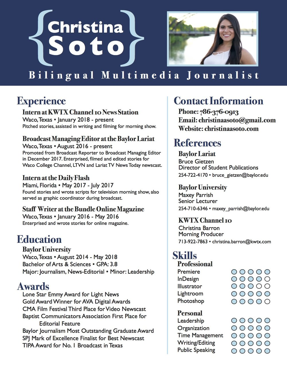 Resume — Christina Soto