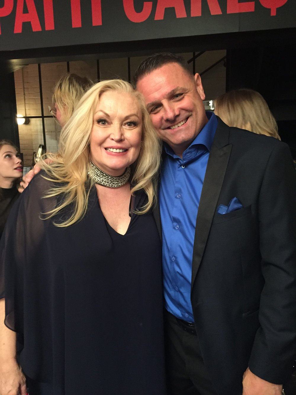 "with Co-Star Cathy Moriarty at Premeire of ""PATTI CAKE$"""