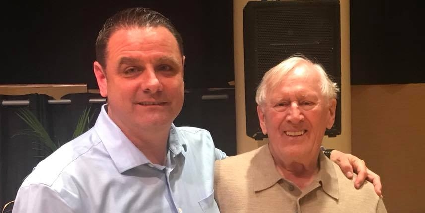 "with Len Cariou after working together on workshop of ""HARRY TOWNSEND'S LAST STAND"""