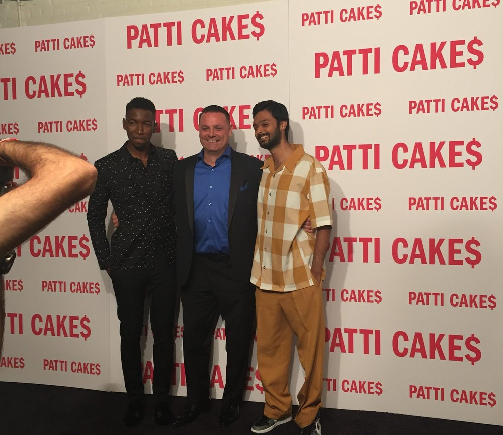 "with Co Stars Mamoudou Athie & Siddharth Dhananjay at Premeire of ""PATTI CAKE$"""