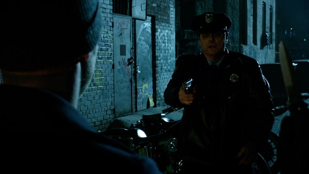"As Officer Barkley in ""GOTHAM"""