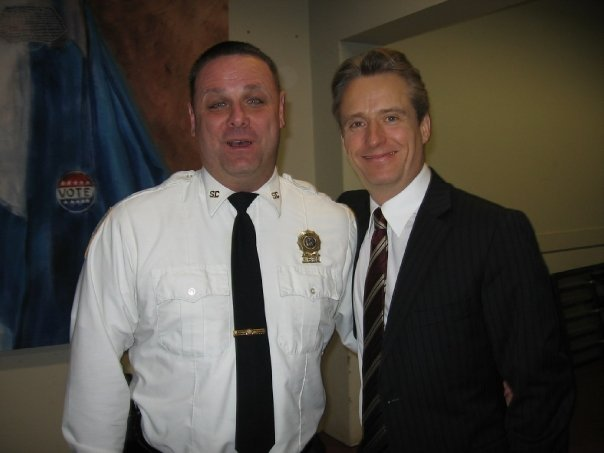 "With Linus  Roache on ""LAW & ORDER"""