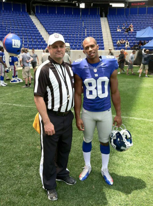 Me & Victor Cruz on set