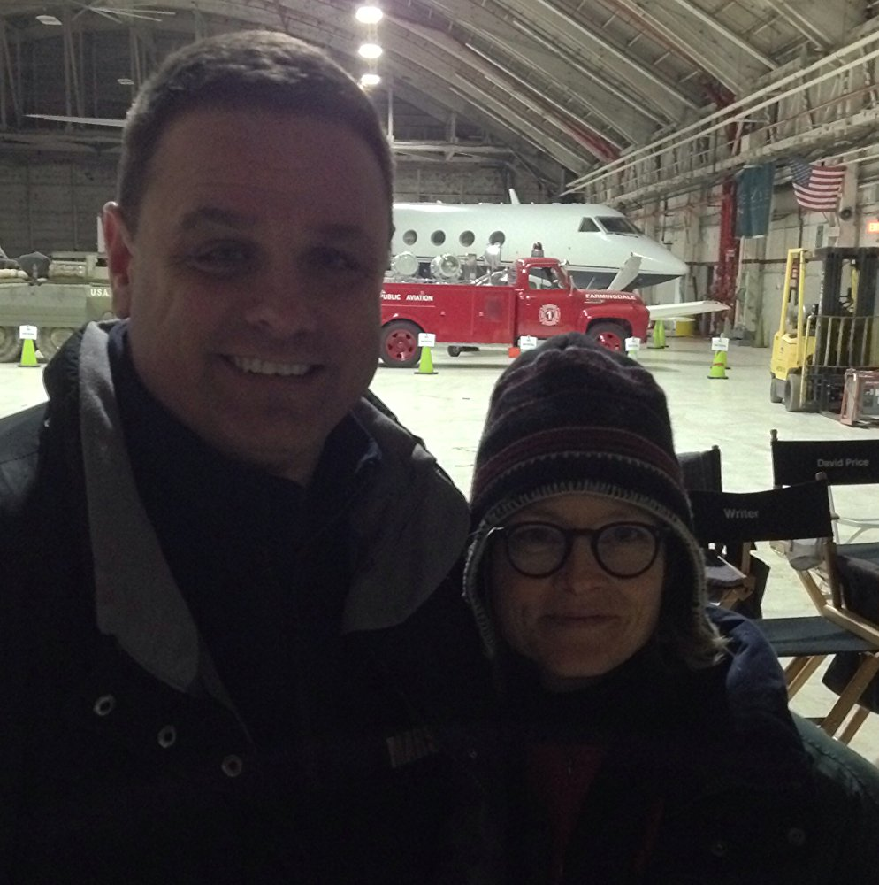 "With Jodie Foster from ""OITNB"""
