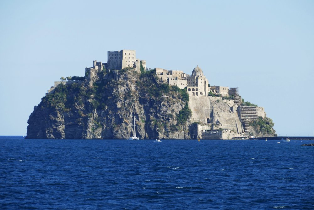 Ischia - a volcanic island in the Bay of Naples with mineral-rich thermal waters.