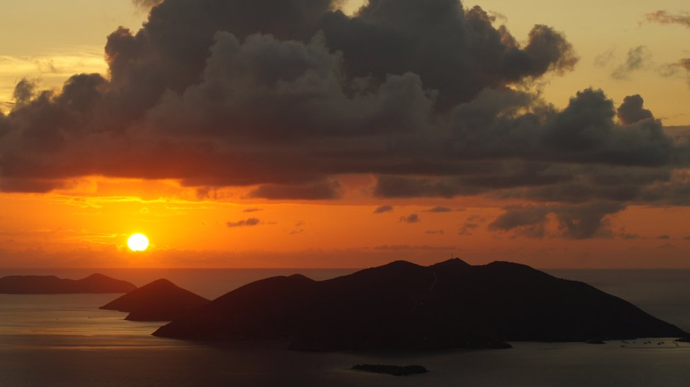 BVI's at sunset
