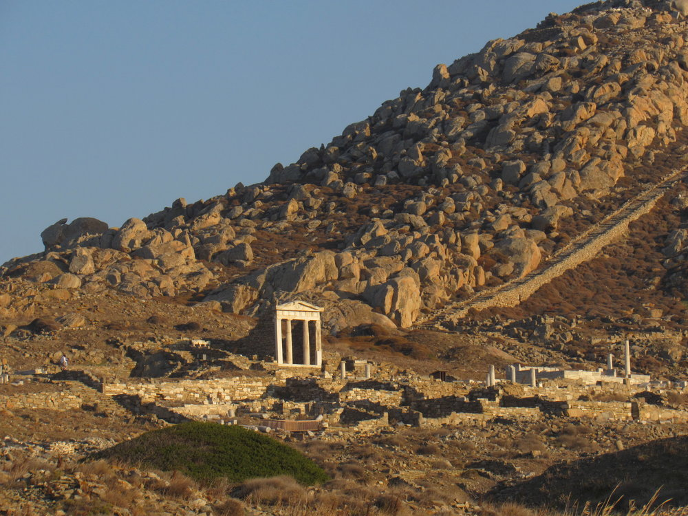 A visit to the archeological site on the island of Delos.