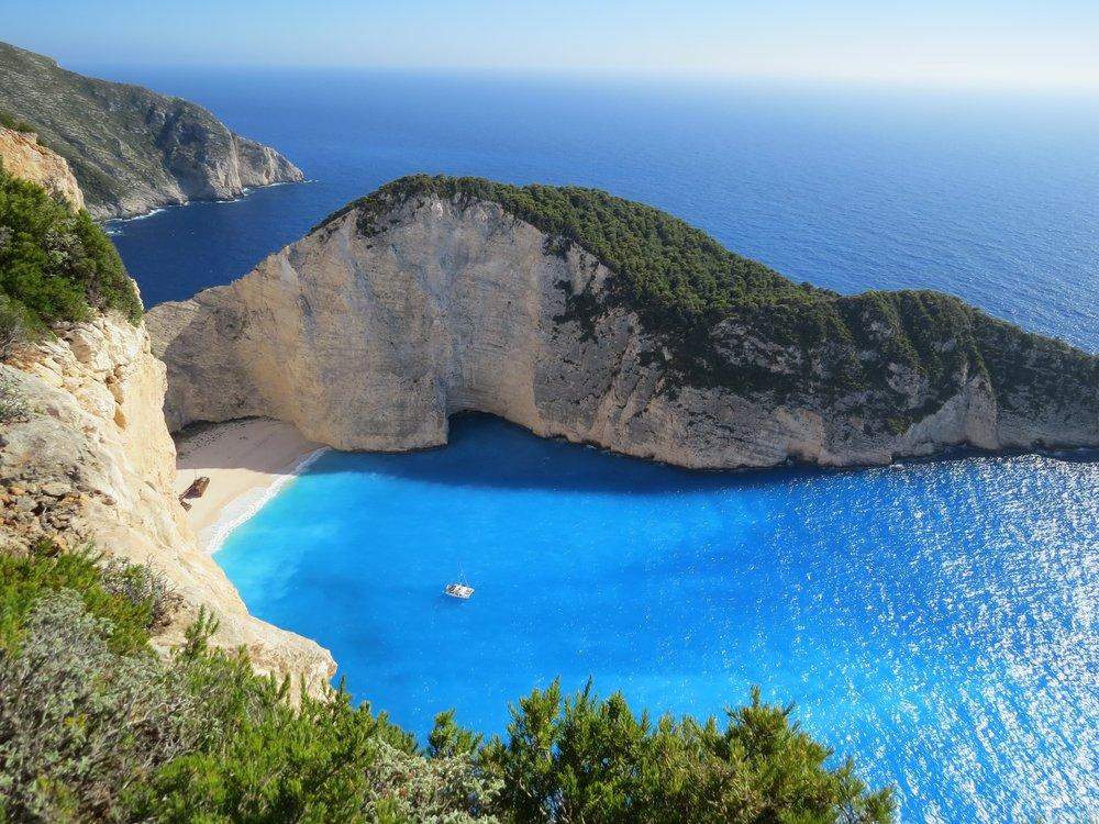 Anchored off of Zakynthos, Greece