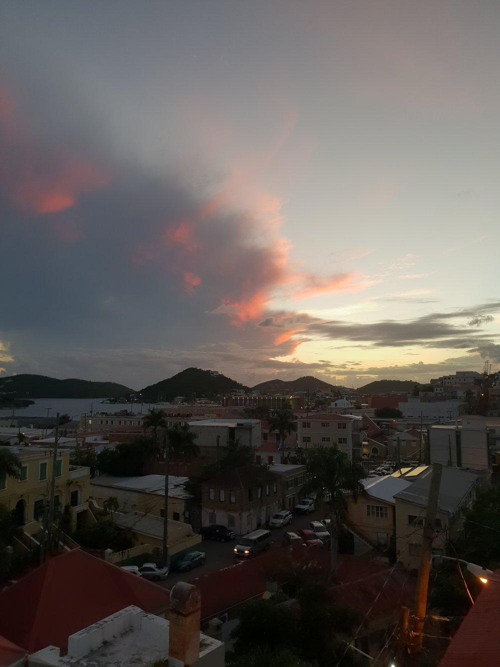 Nighttime in Charlotte Amalie, St Thomas