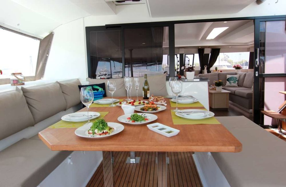 Lunch aboard Tiziano