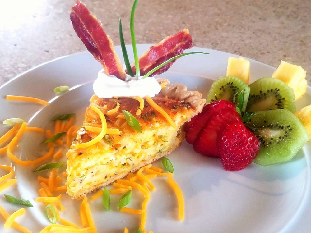 Breakfast quiche on Ventana