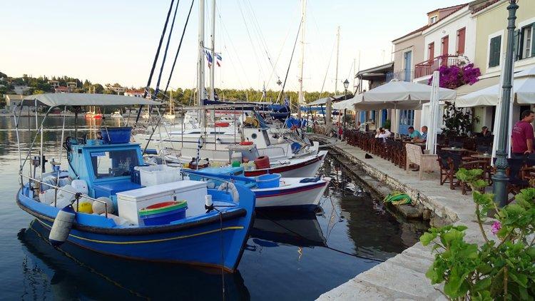 Waterside cafe in Kafelonia, Greece
