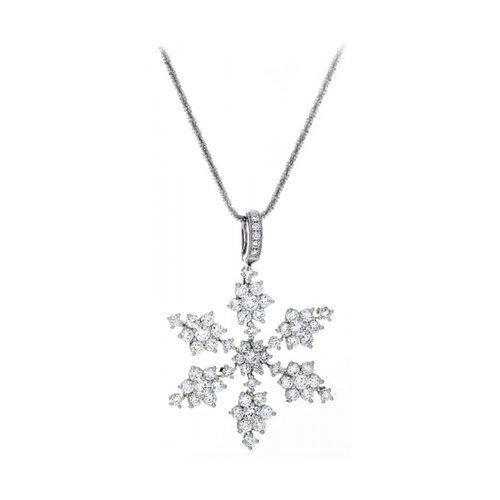 14kt white gold diamond snowflake pendant mountain snowflake white gold diamond snowflake pendant mountain snowflake aloadofball Image collections