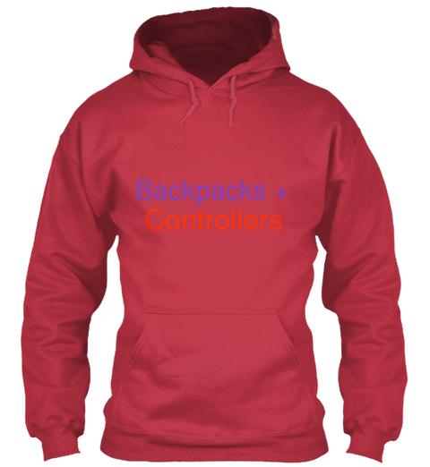 Backpacks + Controllers Hoodie Front.jpg