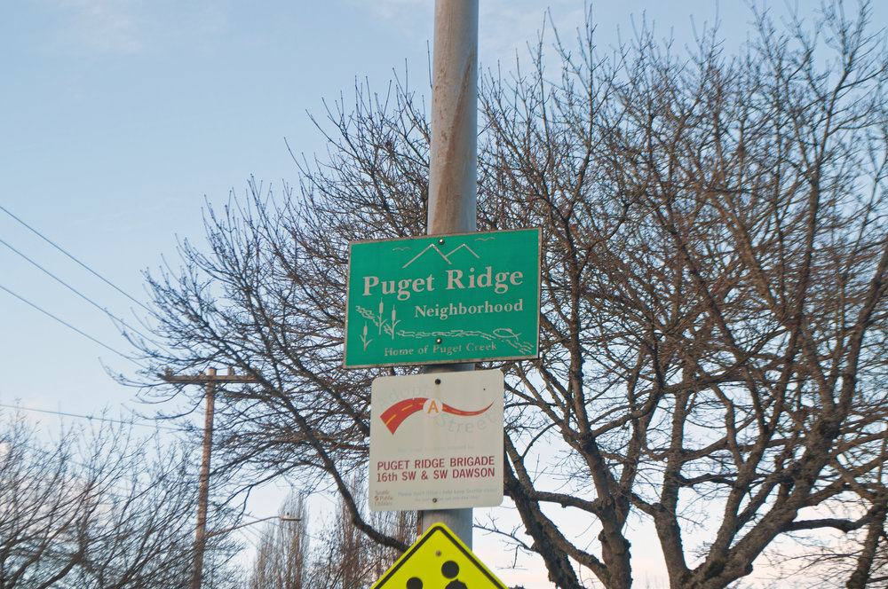Puget Ridge Neighborhood Sign