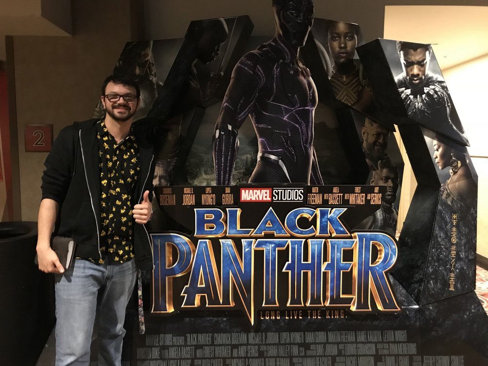 Had to take a picture with the cut out made for the movie