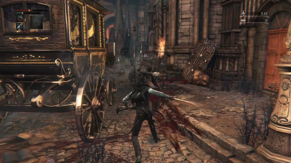 Bloodborne - fighting trash mob enemies