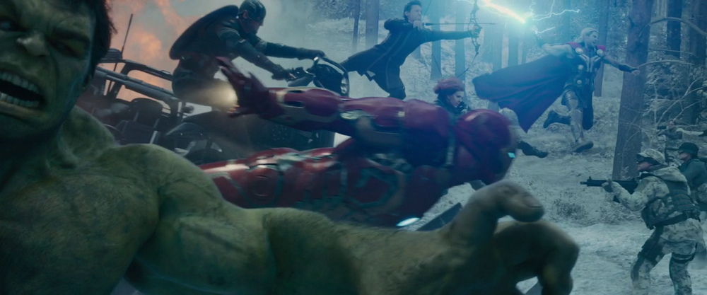 Avengers: Age of Ultron - Hulk, Iron Man, Captain America, Hawkeye, Black Widow, and Thor