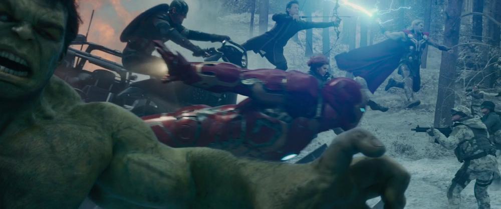 Avengers: Age of Ultron - Hulk, Iron Man, Captain America, Hawkeye, Black Widow, and Thor