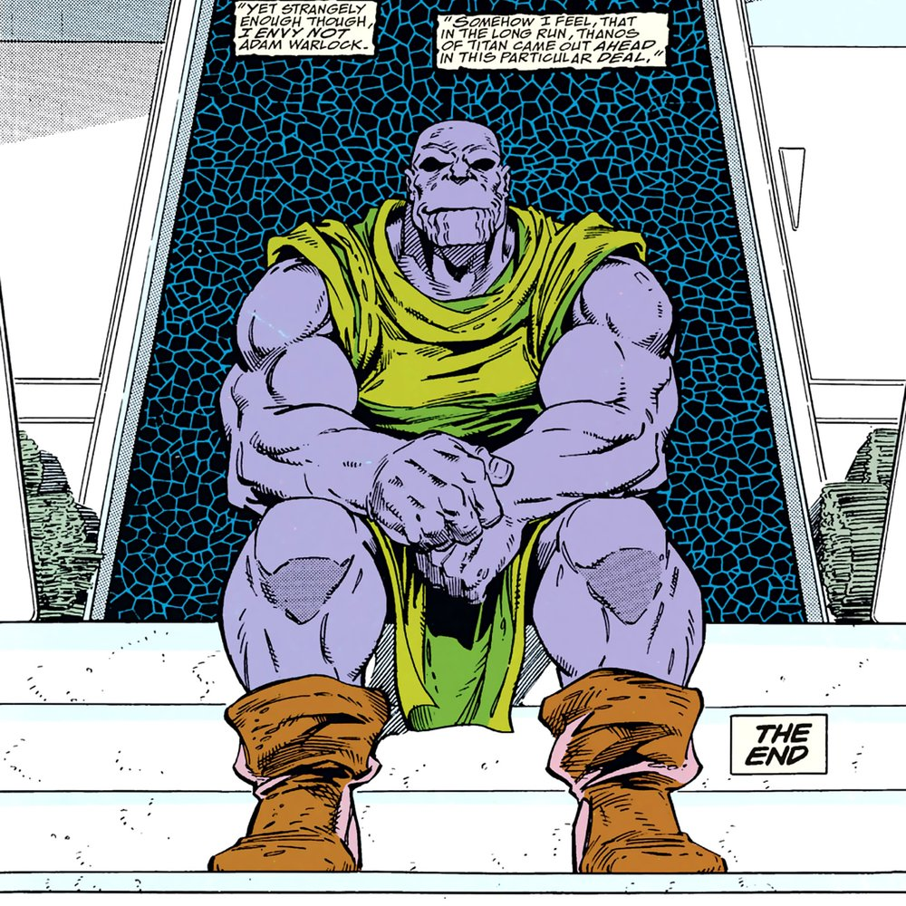 Thanos Sitting at the Steps of his Farm