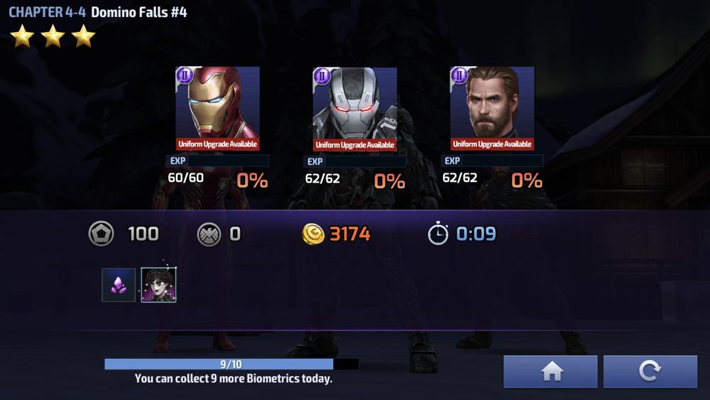 Marvel Future Fight Mission End Rewards (Netmarble)