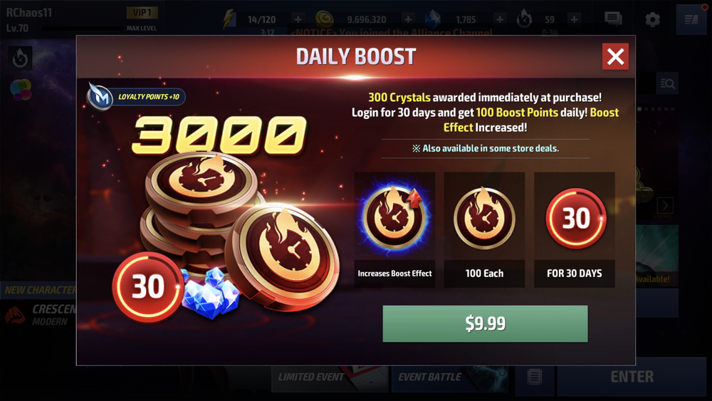 Marvel Future Fight Purchasing Offer (Netmarble)