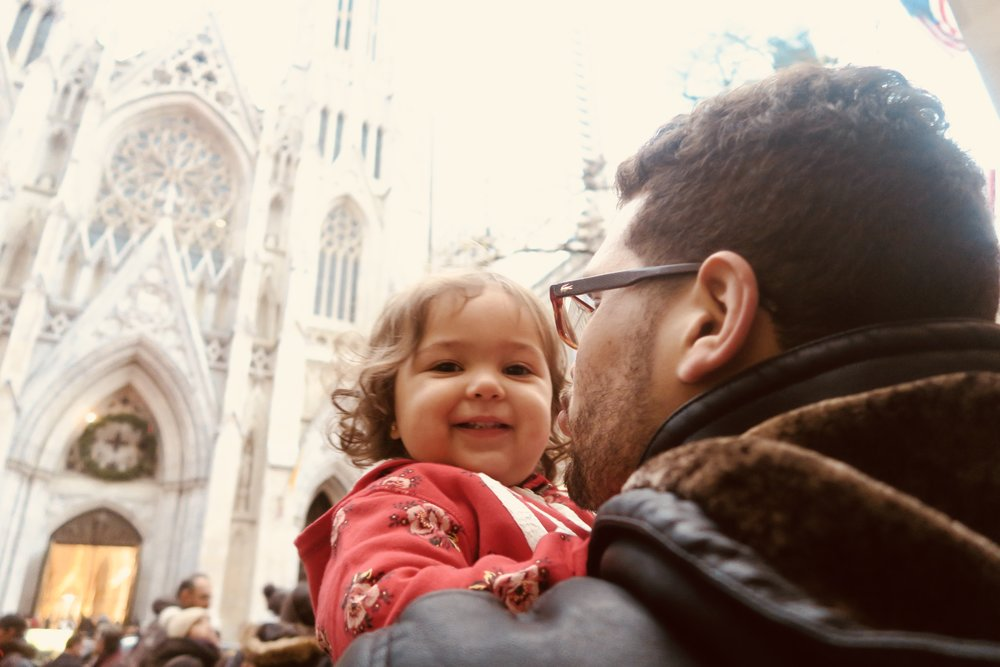 our youngest visitor Sofia on a private tour of Midtown Manhattan