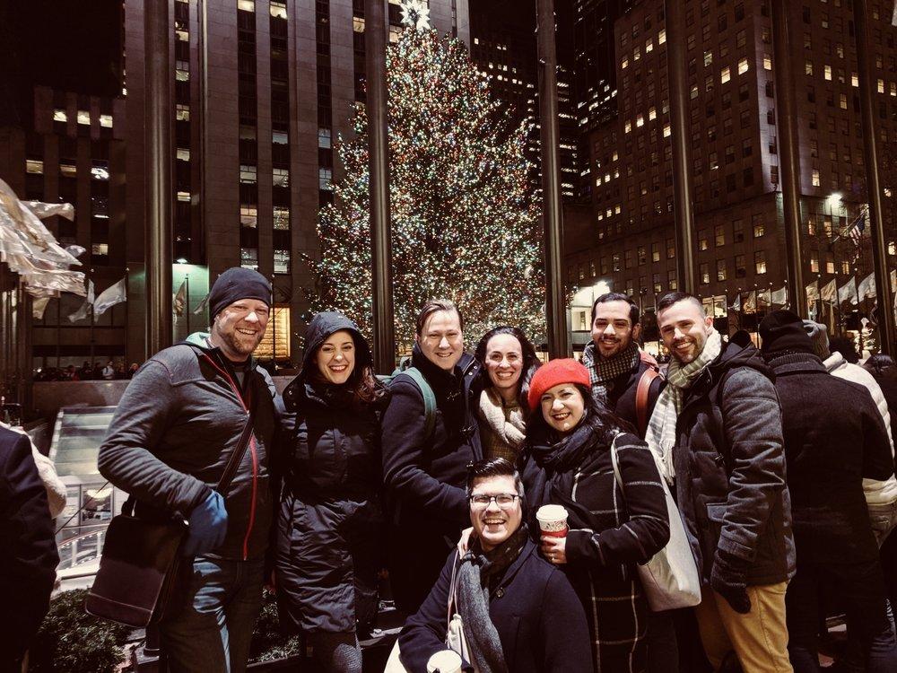 A group holiday stroll through Manhattan