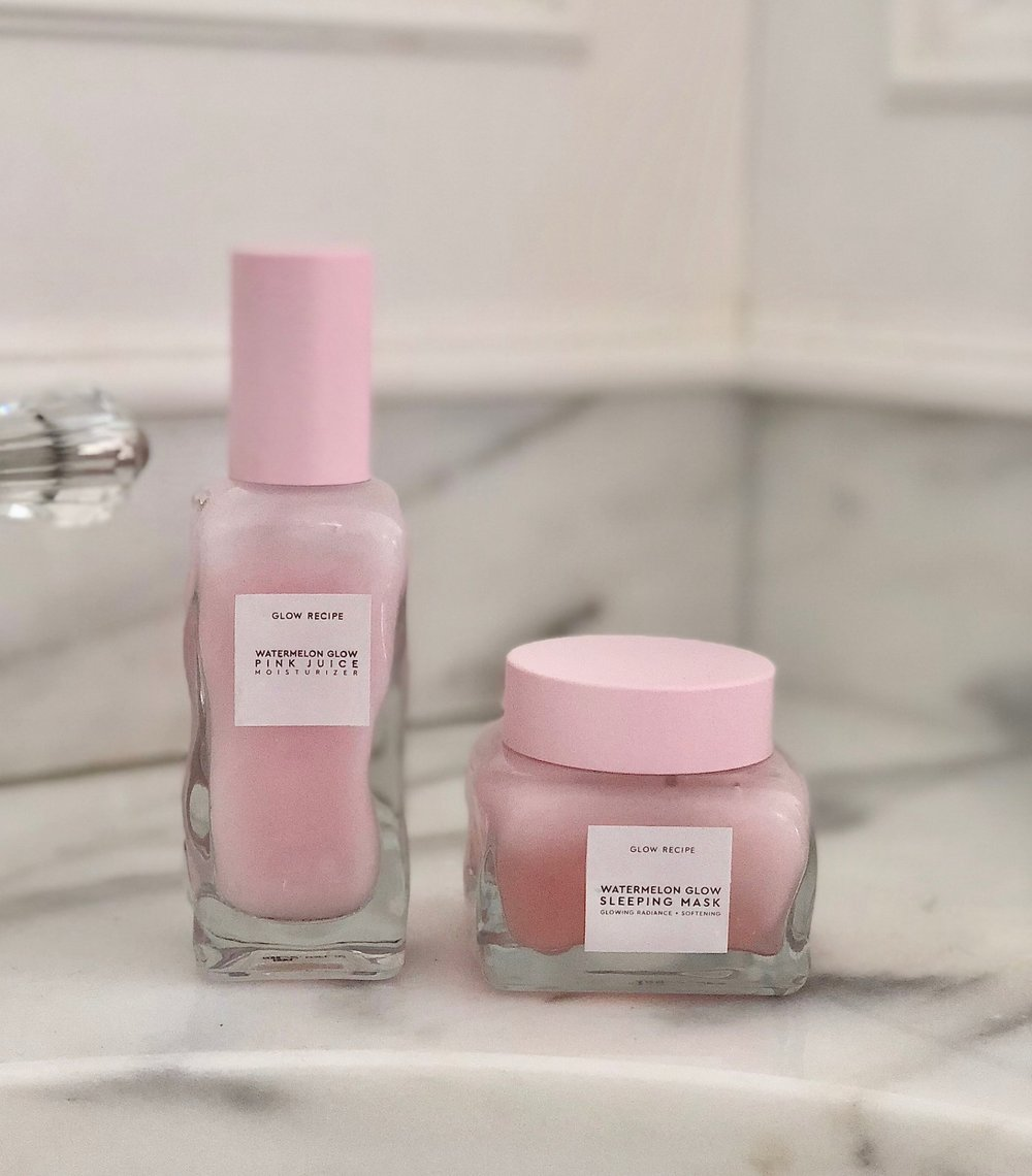 The Glow Recipe's Watermelon Glow Pink Juice Moisturizer and Sleeping Mask
