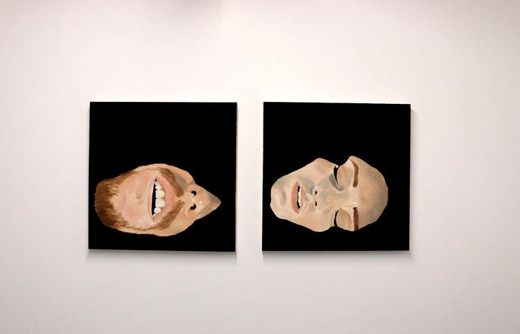 Stillness,  diptych, 24x24, oil on canvas
