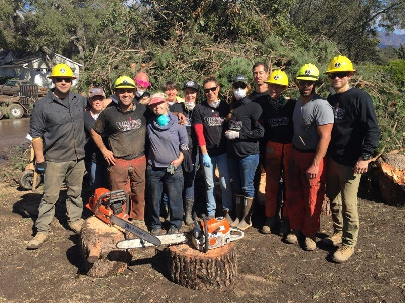Volunteers in Montecito