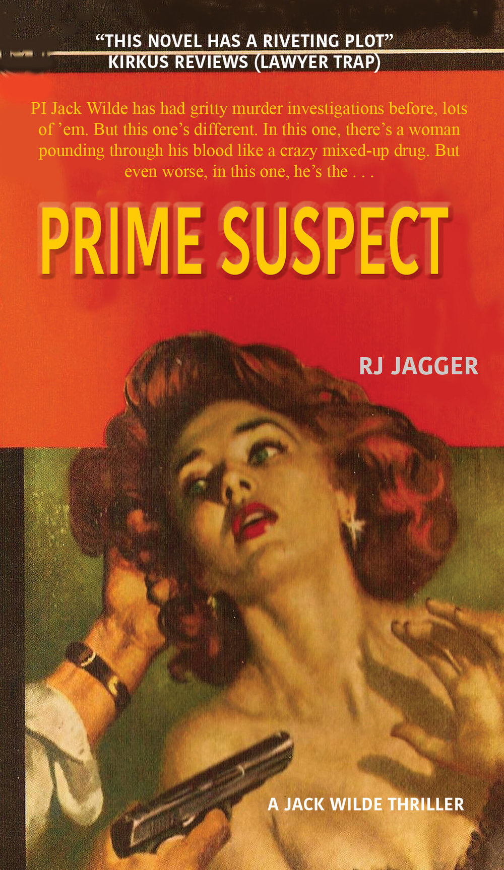 PRIME SUSPECT - Private investigator Jack Wilde lives in an edgy 1952 world where nothing is black and white, cigarettes dangle from ruby-red lips, and even the simplest case has more dangerous twists than whiskey-soaked jazz. Sure, he's had gritty murder investigations before. Lots of 'em. But this one's different. In this one, more than one person is out to kill him. And in this one, there's a woman pounding through his blood like a crazy mixed-up drug. And most importantly of all, in this one, he's the prime suspect.