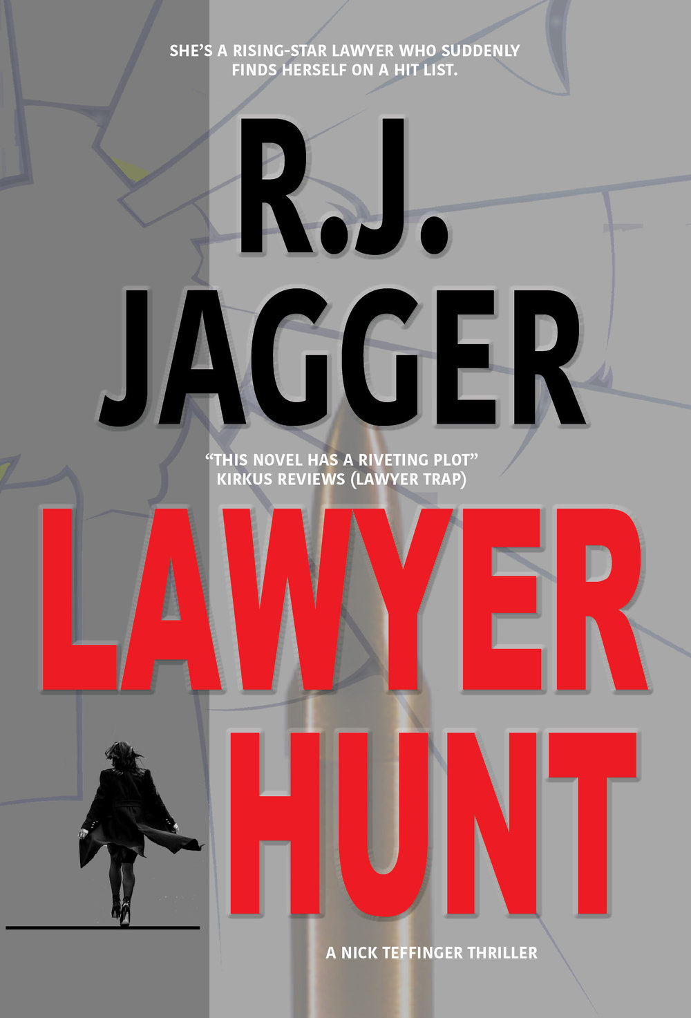 LAWYER HUNT - In this frantic thriller from acclaimed author R.J. Jagger, an up-and-coming associate attorney discovers that she's on a murder list and frantically searches for answers, not only to save her life but also to find out whether she was tricked into participating in a murder herself.Coming in 2018 in hardcover, paperback, ebook.Distributed by Ingram.