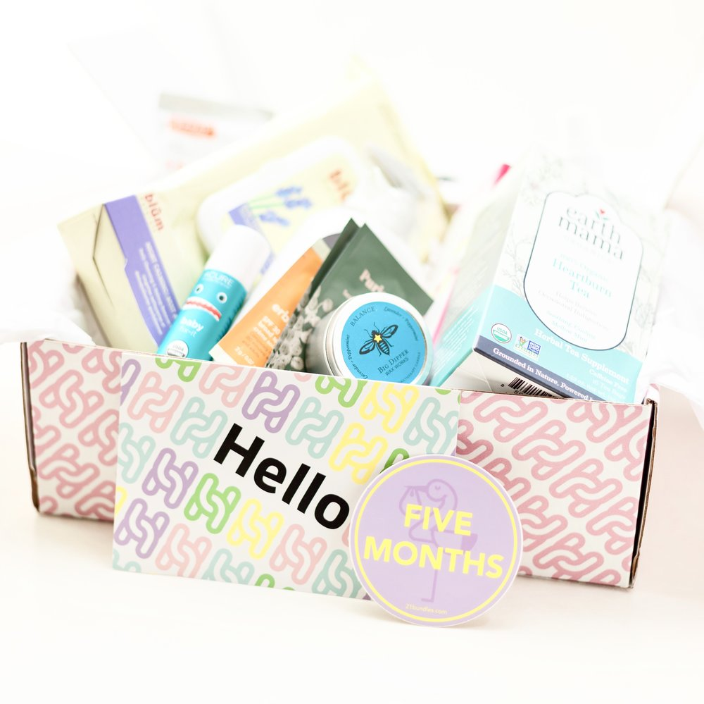 Healthiest Baby 5 Month Box full of products.