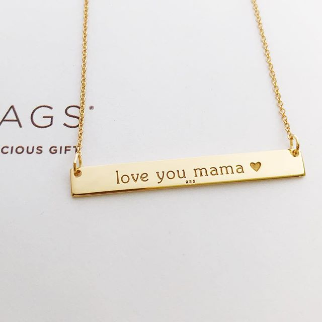 I love you mama Tiny Tags personalized jewelry