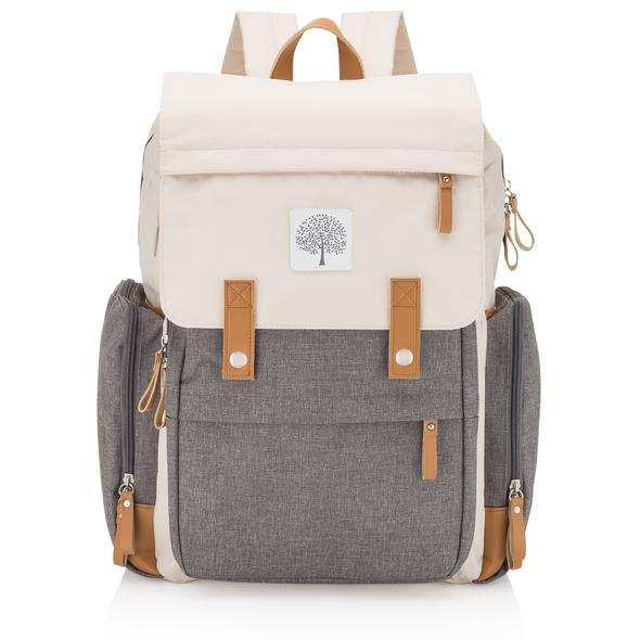 Grey and Cream Parker Baby Co. Birch Bag