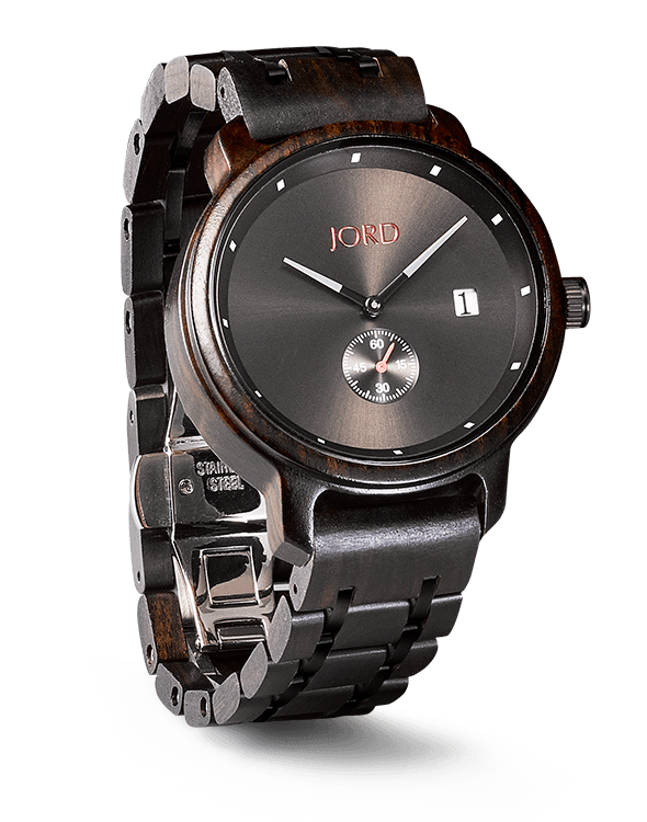 men's Ebony and Iron Hyde JORD Watch
