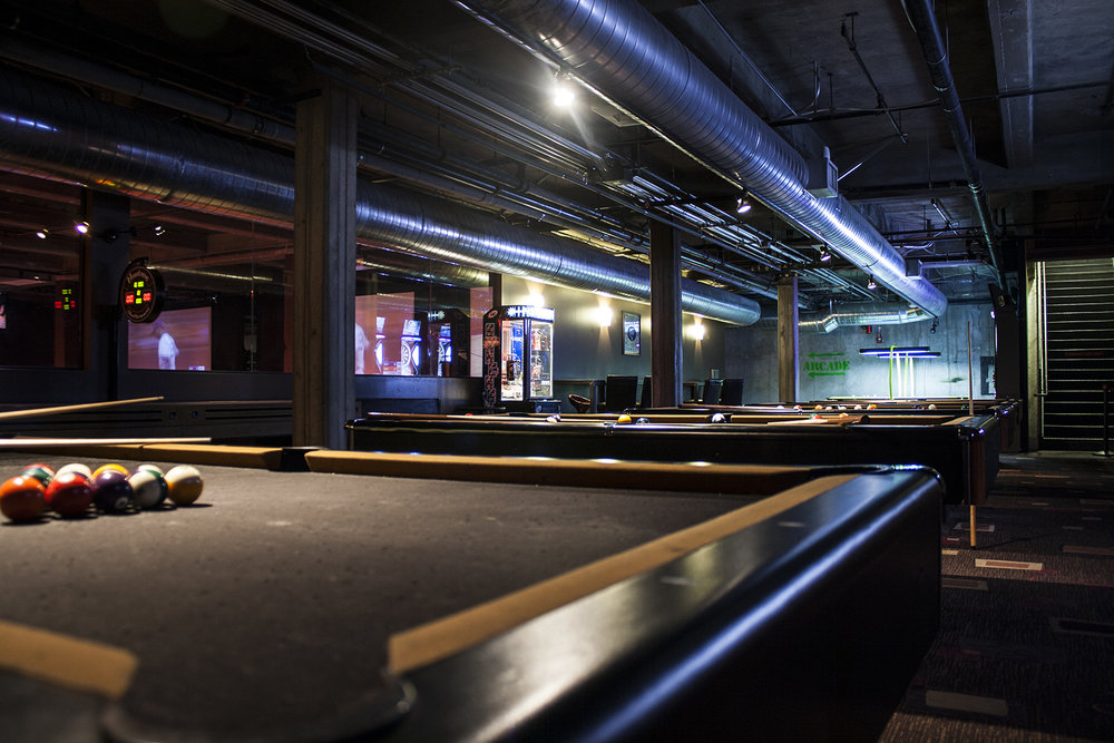 Billiards & More! - Six billiards tables,  electronic darts, shuffle board, air hockey and arcade machines.