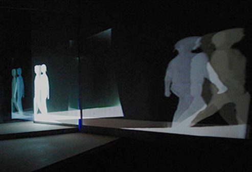 "PROJECTION 2,2013,00:02:00 minute loop,color,no audio,h 12 x l 34 x w 35 "",video projection, wood, plexiglass"