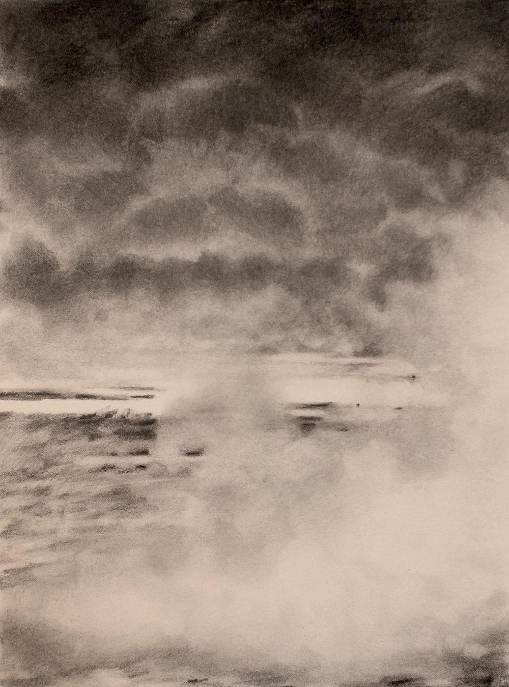 desert (iraq) 4, 2017, 10 x 15 inches, graphite on paper
