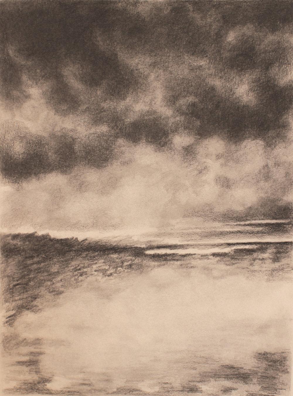 desert (iraq) 3, 2017, 10 x 15 inches, graphite on paper
