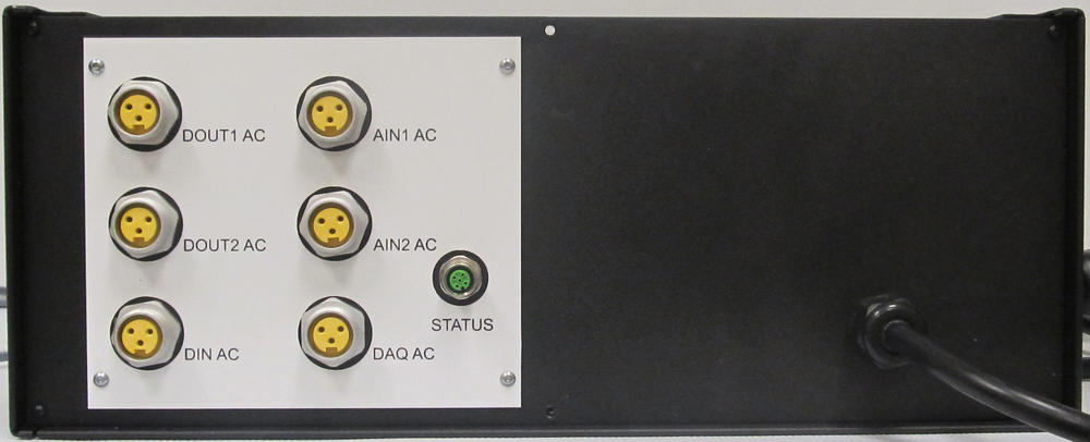 Rear Panel showing connectors for power distribution to other System enclosures
