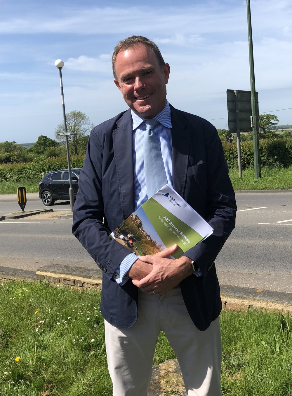 Nick Herbert MP at the Crossbush Junction