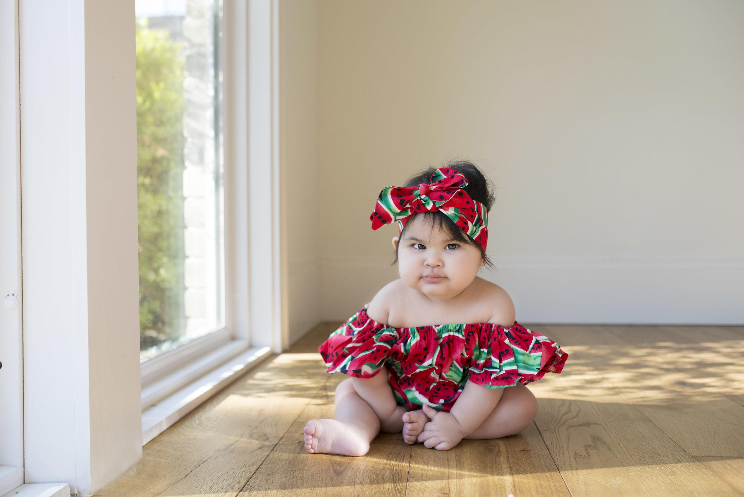 164fffdd75b2 Watermelon Romper + Headband — Tiny V s Closet
