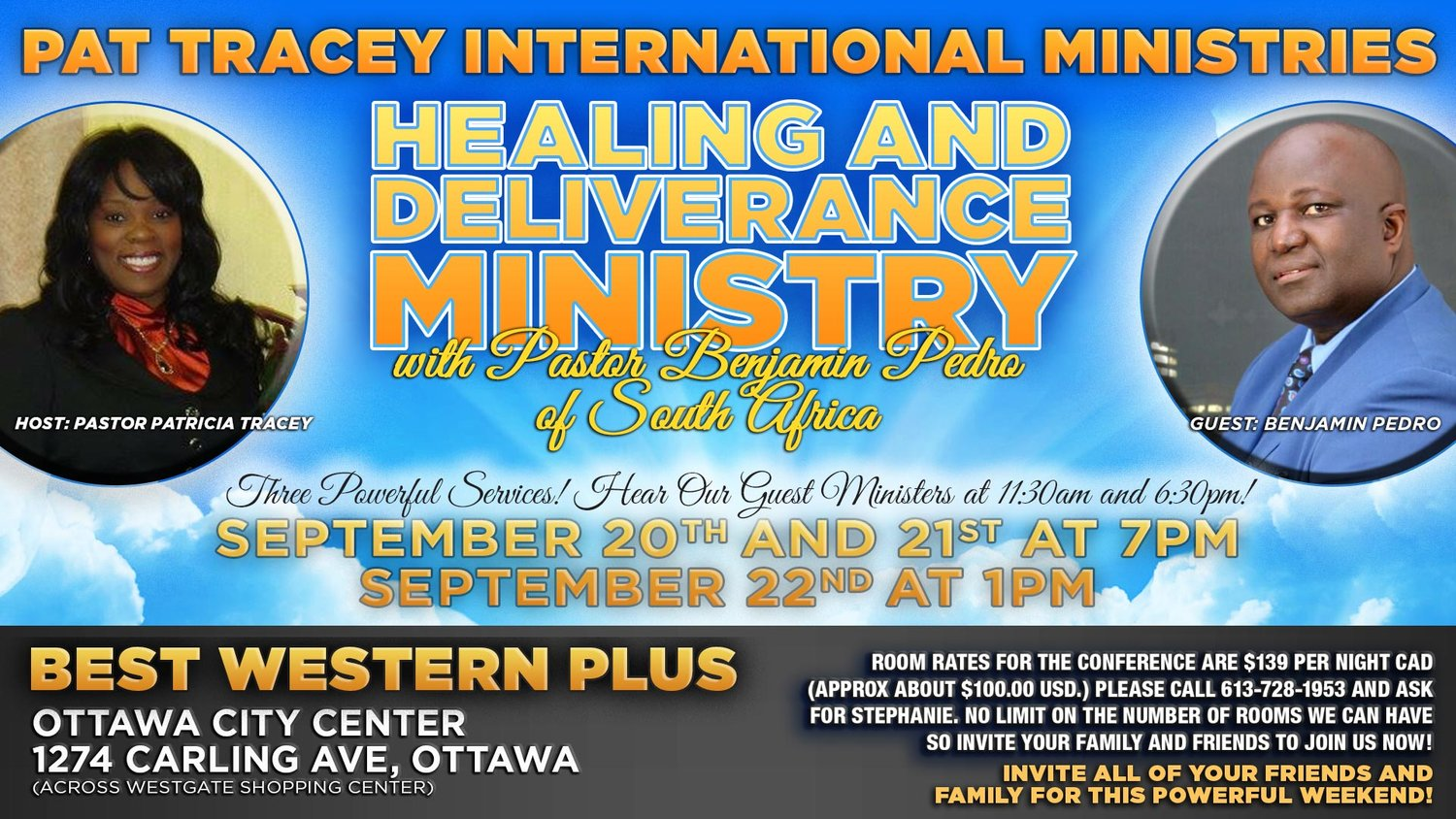 Events — Pat Tracey International Ministries