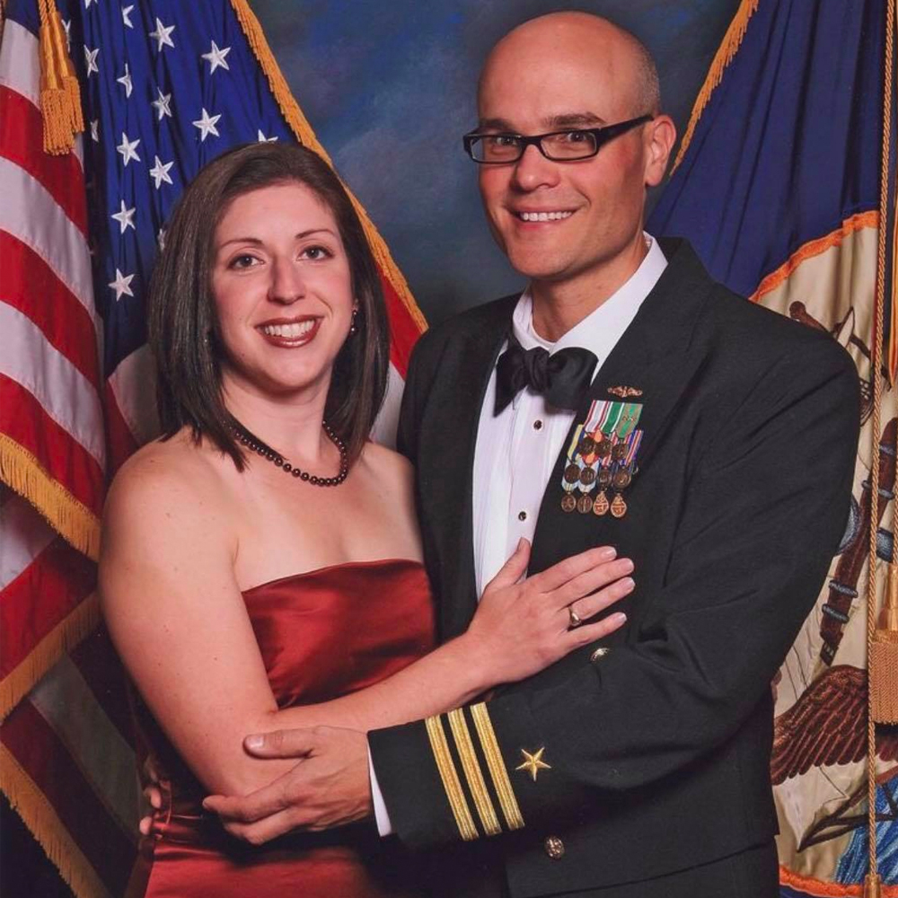 Brother Van Poots and his wife, Holly, at the Navy Ball.