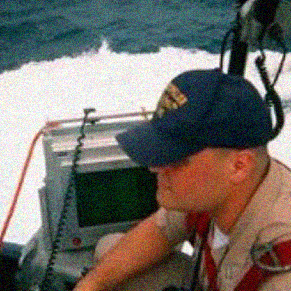Brother Van Poots on the flying bridge of the Fast Attack Nuclear Submarine USS Montpelier SSN-765