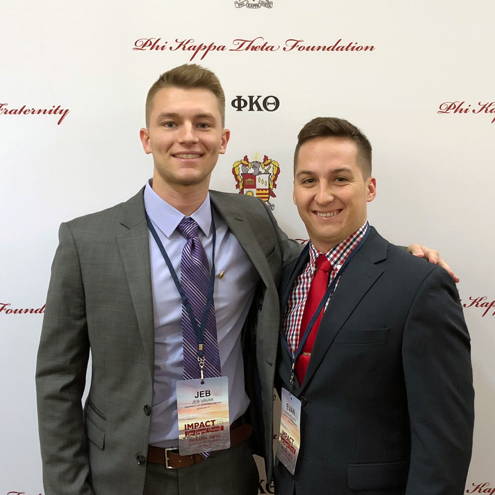 Brother Vavek (University of Nebraska-Lincoln, '19) (left) and Brother Evan Helman (University of Nebraska-Lincoln) at IMPACT18 in Orlando, FL.