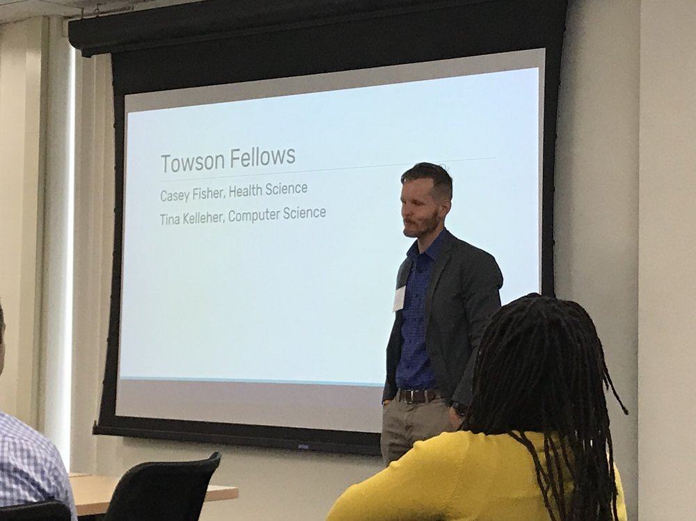 Casey Fisher, part-time faculty member of Towson University reflecting on the first term of his Faculty Guild fellowship.